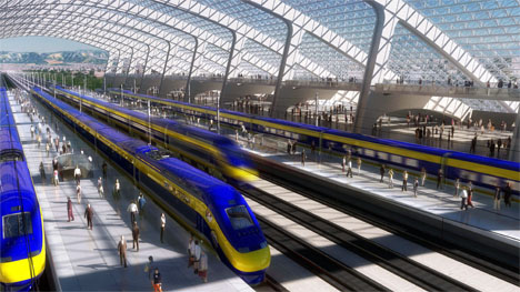 california high speed rail station image