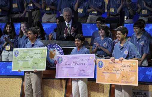 National Geographic Bee Winners